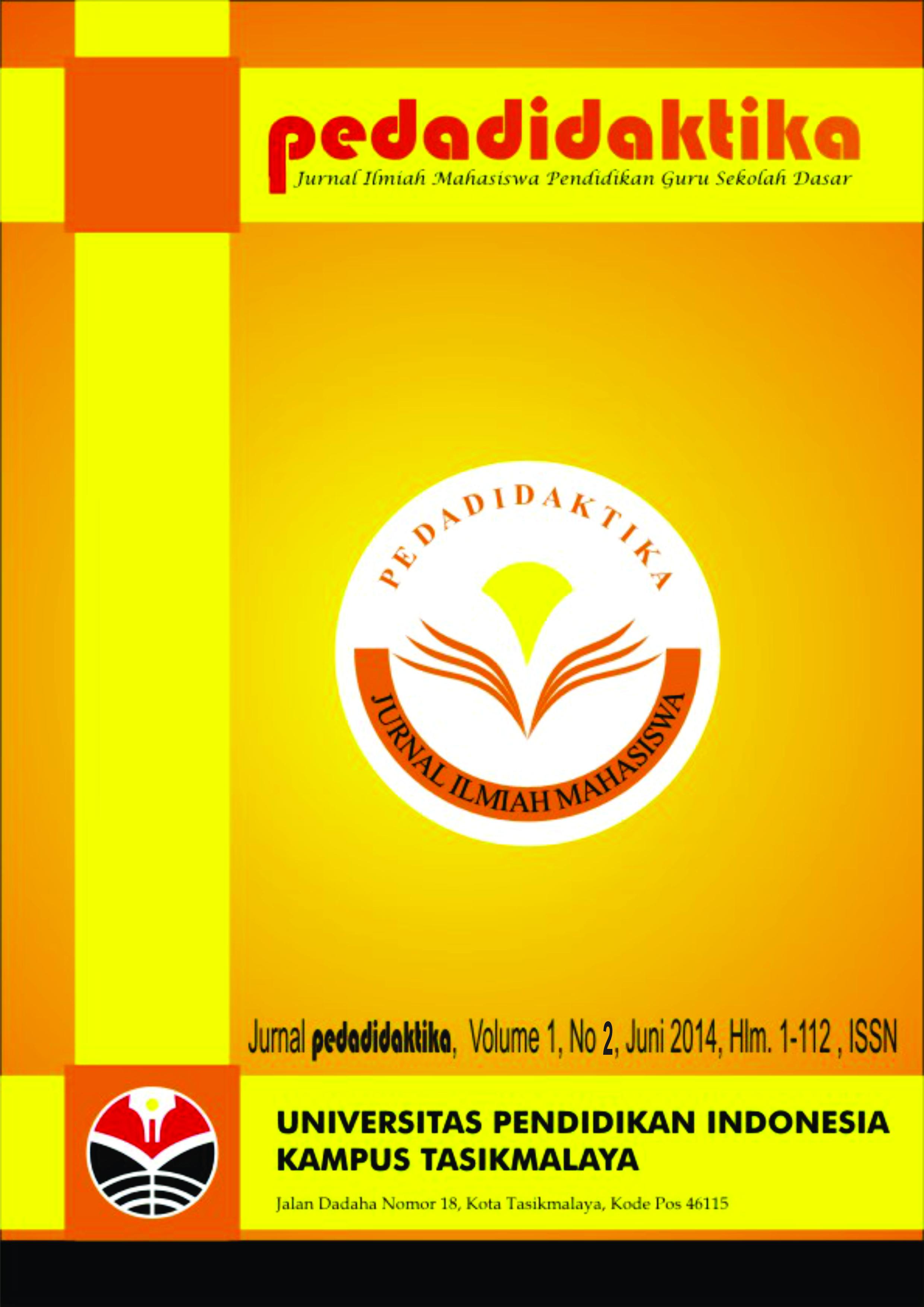 Jurnal Pedadidaktika, Volume 1, No 2. Desember 2014