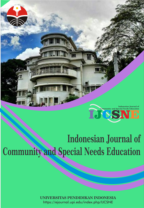Cover - Indonesian Journal of Community and Special Needs Education